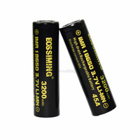Wholesale 100 Original BossiMing mah A Output High Drain Batteries Flat Top V Bossiming black Batteries VS Samsung R Sony LG HG2 free case