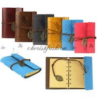 Wholesale Vintage leaf faux Leather pirate cover travel journal Diary NoteBook Blank Diary String Copybook Navigator Diary Notepads Z311 B