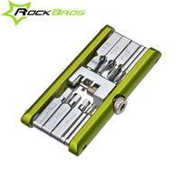 Wholesale ROCKBROS Bicycle Repair Tool Bike Pocket Multi Function Folding Tool in Cycle Tools Spoken Wrenches Chain Tools Bike Tools Maintenanc