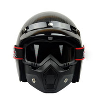 Wholesale 2016 Antman union Motorcycle Face Mask Dust Mask With Detachable Goggles And Mouth Filter For Modular For Open Face Moto Vintage Helmets