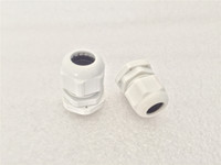 Wholesale Plastic Nylon IP68 Waterproof Connector PG7 PG9 PG11 PG13 PG16 PG19 PG21 White Cable Glands Joints Adapter