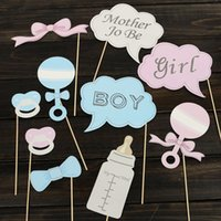 baby booth - Hot Party Gifts Photo Booth Props DIY Bottle Baby Shower Boy Girl Birthday Enclosed Stick Frame Wedding Decoration