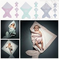 baby blankets and quilts - 3 color KKA136 Baby Wrap Swaddle and Baby Air Condition Blankets Mermaid Wraps Ins blanket infant parisarc baby Sleeping Bag Quilt