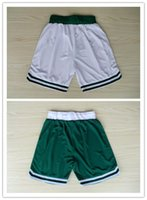 Wholesale High Quality For Cheap Boston Bradley Wallace Basketball Sports Mens Shorts Green White Yellow Hot Sale