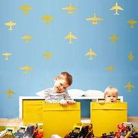 art fighter - New DIY Removable Flying Dandelion Art Mural Decal Room Wall Sticker Wallpaper Fighter Plane Paste Home Bedroom