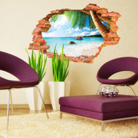 beaches background - Beach wall stickers fashion personality Children creative D stereo wall effect wall posters background wall stickers