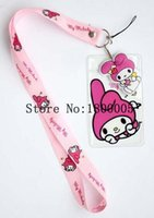 Wholesale New ID Badge Holder kawaii Squishy Logo Neck Lanyards Key Chain Phone Strap Chocolates Cartoon Mobile Charms L1374