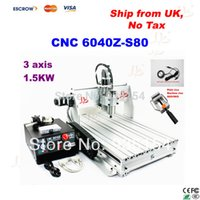 Wholesale 1 kw CNC Spindle CNC Z S80 CNC Wood Router axis engraving machine with free gift free tax to EU