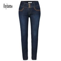 Wholesale Fashion Cheap Women s Dark Blue Jeans Real Photo Pencil Pant Style Suitable for autumn and winter