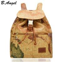 Sac à dos de haute qualité pour carte du monde sac à dos spécial pour femme sac à dos en cuir sac à dos en cuir HC-Z-8133