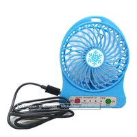 Wholesale 2016 Inch Vanes USB Fan Speeds Portable Mini USB Rechargeable Desktop Fan wih LED Light