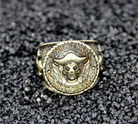 Wholesale Ring High fashion Human Head Retro Jewelry new Skull Ring for men K Copper alloy Bronze large mm Piece
