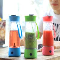 battery drink mixer - TOP Piece ml Hand Portable Electric Fruit Juice Mixer Cup Battery Automatic Milkshake Juicer Mixer Bottle