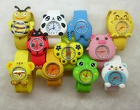 Wholesale Children Watch Cartoon Pat Silicone Mixed Animal Design Pig Bear Frog Table Colorful Watch Cute Birthday Kids Gift XRSB13 Free DHL