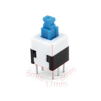 Wholesale Latching Tactile Tact Push Button Switch Self Lock Pin Discount Size mm x mm x mm L W T