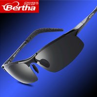 Wholesale BERTHA Aluminum Mens Sunglasses Sport Polarized Sun glasses Driving Eyewear Accessories For Men oculos de sol masculino
