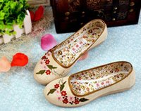 b mom - Fashion Women s Shoes Chinese national wind embroidered shoes casual shoes flat mom cotton comfortable driving shoes