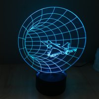 atmosphere hole - Creative D illusion Lamp LED Night Light Space Shuttle Black Hole Design Novelty Acrylic Discoloration Colorful Atmosphere Lamp