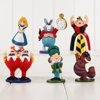 alice models - 4 cm Styles Anime Cartoon Alice in Wonderland PVC Action Figure Collectable Model Toy for kids gift retail