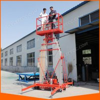 aerial working platform - 2 Mast Aluminum Lift Platform Aerial Work Platform