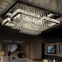 Wholesale high quality modern LED chandelier crystal lamp rectangular chandelier light lustre living room lights
