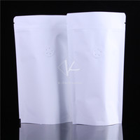 aluminium finish - x22 cm Waterproof Matt Finished Aluminium foil Standing Ziplock White Kraft Paper Coffee Bag with Valve
