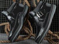 Wholesale Slip Shoes Men Cowboy - 2017 New Arrival Men Shoes %100 Genuine Leahter Cowskin High Quality Flats Boots Autumn Winter Mens Casual Shoes 39-44 Size Retail
