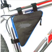 Wholesale Bike Cellphone Accessories Triangle Waterproof Cycling Bike Bicycle Front Tube Frame Pouch Bag Saddle Holder Sacoche Velo Selle
