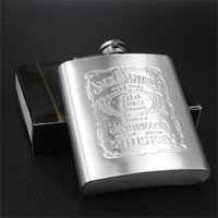 Wholesale 7 OZ Stainless Steel Flask Pocket Hip Flask Jack Daniel s Wine Alcohol Flask Liquor Flask Wedding Gift Laser Welding