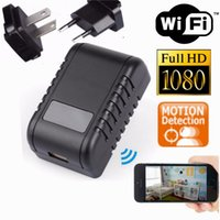 Wholesale New WIFI P HD SPY Hidden Wall Charger Camera Adapter DVR Video Recorders Wireless Network Security Camera Nanny Cam For Home Office