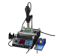 Wholesale YIHUA YH AAA Heater Hot Air BGA Rework Solder Station W SMD Hot Air Gun W Soldering Irons W Preheating Station