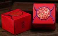 Wholesale 9 cm Wedding Party Gift Candy Box Favor Gift Box Packaging Red Blue