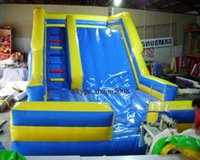 Wholesale new design large inflatable slide on water inflatable water slide