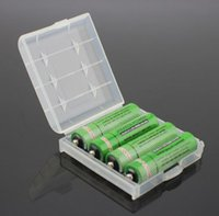 Wholesale Battery Case Plastic Transparent Colorful AA AAA Battery Storage Box Case with Hook Holder for Batteries