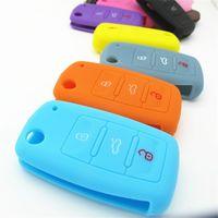 Wholesale Car Key Case Key Bag Keys Cover For Volkswagen VW Golf mk7 A7 Silicone Key Portect Case Car Accessories