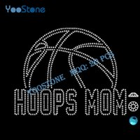 basketball hoop sales - 2016 Hot Sale Hoops Mom Basketball Rhinestone Transfer Customize For Men s t Shirt