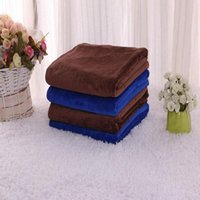 Wholesale 30X30 CM Blue Absorbent Wash Cloth Car Auto Care Microfiber Cleaning Towels E00101 OST