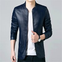 Wholesale Fall The new winter hot PU leather jacket leather middle aged men s big street senior code XL