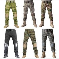 atac tactical - Tactical Airsoft Paintball Combat Hunting Pants with knee pads Soldier Outdoor Fishing Survival Wargame Trouser CP ACU ATAC FG