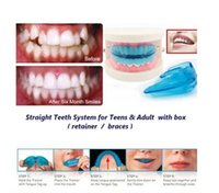 Wholesale A retainer Box Orthodontic Straight Teeth for Teens Adult Color Blue white