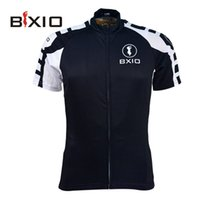 Wholesale BIXO On Sale Bikes Clothes Short Sleeve Black Mens Cycling Jerseys Fashion Zipper Bike Clothing Team Outdoor Jersey