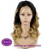 Wholesale lace frontal hair wigs natural human hair all colors Brazilian hair wigs costume hair wigs mixed colors