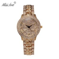 Wholesale Relogio Feminino Luxury MISS FOX Women Dress Watches Steel Quartz Watch Waterproofing alloy Gold Watches For Womans Wristwatches