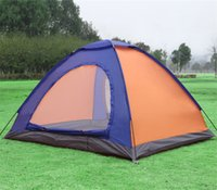 Wholesale Camping tents portable outdoor camping hiking fishing adventure anti UV double tent carrying bag colors CT