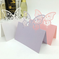 Wholesale 200 Laser Cut Butterfly Vinte Wedding Table Name Place Card Seating Numbers Wedding Party Decoration Centerpieces
