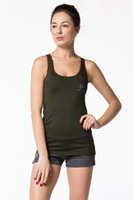 Wholesale Sexy bodybuilding vest ladies sportr camisole sleeveless fitness crew neck tank top for women with open back