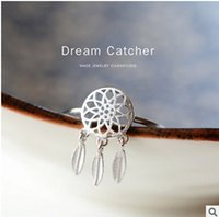 Wholesale 2016 Chinese new traditional and fashion Dreamcatcher matte opening ring comfortable and good looking china hot selling
