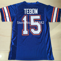 Wholesale Tim Tebow Jersey E Smith Florida Gators College Football Jerseys Sewn Letters and Numbers Embroidery Logos Size M XL