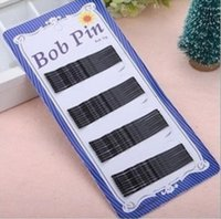 Wholesale Women Stylish Word Folder Hairpin Black Small Other Fashion Accessories For Hair Card Issuers cm And cm
