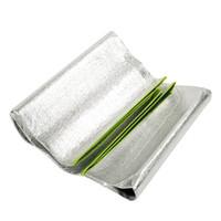 aluminum foil blanket - Aluminum Foil Outdoor Beach Garden Travel Moistureproof Picnic Grass Blanket Camping Hiking Sleeping Mat Pad Cushion Silver